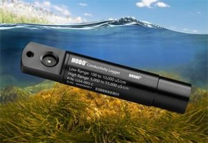Salinity data loggers from Onset